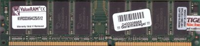 Kingston KVR333X64C25 512 CL2.5 512MB DDR1 333MHz PC2700 9905216-003.A03* r218