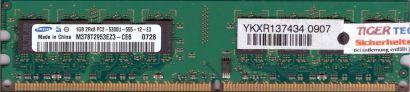 Samsung M378T2953EZ3-CE6 PC2-5300U CL5 1GB DDR2 667MHz Arbeitsspeicher RAM* r220