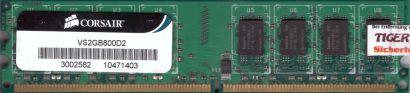 Corsair VS2GB800D2 PC2-6400 2GB DDR2 800MHz Arbeitsspeicher* r227