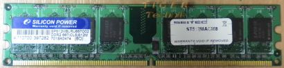 Silicon Power SP512MBLRU667O02 PC2-5300 512MB DDR2 667MHz Arbeitsspeicher* r231