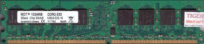 MDT M924-533-16 PC2-4200 1GB DDR2 533MHz Arbeitsspeicher RAM* r241