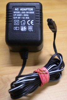 JAA-09100E AC Adapter 9V 1A 9VA Netzteil* nt763