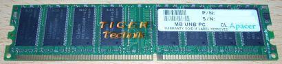 Apacer 77 G0739 43G PC3200 CL2 5 512MB DDR1 400MHz Arbeitsspeicher* r244