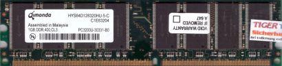 Qimonda HYS64D128320HU-5-C PC-3200 1GB DDR1 400MHz Arbeitsspeicher RAM* r246