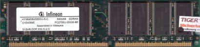 Infineon HYS64D64320GU-6-C PC-2700 512MB DDR1 333MHz Arbeitsspeicher RAM* r248