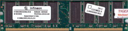 Infineon HYS64D64320GU-6-B PC2700 512MB DDR1 333MHz Arbeitsspeicher RAM* r250