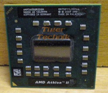 Notebook CPU Prozessor AMD Athlon II P360 AMP360SGR22GM 2x2.3GHz Sockel S1* c223