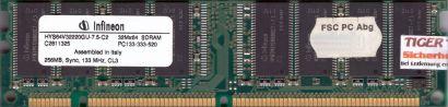 Infineon HYS64V32220GU-7 5-C2 PC133-333-520 CL3 256MB SDRAM 133MHz RAM* r259