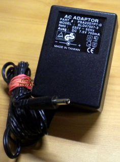 PSA23D7P7-G AC Adapter 7.5V 700mA Netzteil* nt787