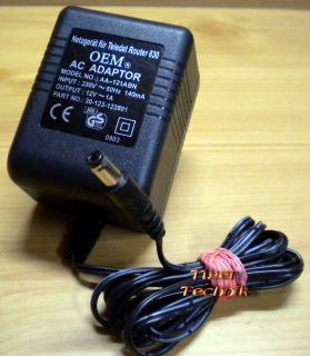 OEM AC ADAPTER AA-121ABN 12V 1A Netzteil* nt790