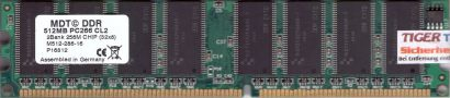 MDT M512-286-16 PC-2100 512MB DDR1 266MHz CL2 Arbeitsspeicher RAM* r264