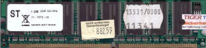 NoName PC-3200 1GB DDR1 400MHz Arbeitsspeicher DDR RAM diverse Marken* r265