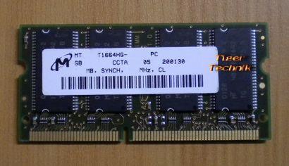 Micron MT8LSDT1664HG-10EB1 PC100-222-620 CL2 128MB SODIMM 100MHz RAM* lr01