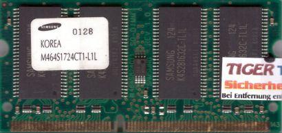 Samsung M464S1724CT1-L1L PC100 128MB SDRAM 100MHz SODIMM Arbeitsspeicher* lr03