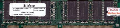 Infineon HYS64V32300GU-7.5-C2 PC133 256MB SDRAM 133MHz Arbeitsspeicher RAM* r282
