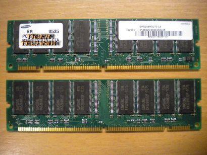 Samsung M366S3323CTO-C75 PC133U-333-542 256MB SDRAM 133MHz RAM* r283