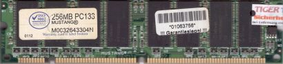 Mustang M0032643304N PC133 256MB SDRAM 133MHz Arbeitsspeicher SD RAM* r296