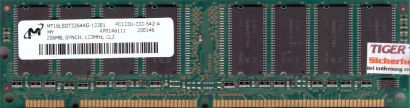 Micron MT16LSDT3264AG-133E1 PC133U-333-542-A 256MB SDRAM 133MHz RAM* r306