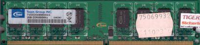 Team Group TVDD2048M800C5 PC2-6400 2GB DDR2 800MHz Arbeitsspeicher RAM* r309
