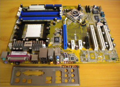 Asus A8N-E Rev 2.01G Mainboard + Blende Sockel 939 nForce4 SATA PCIe GLAN* m646