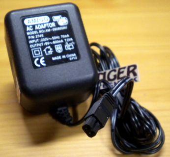 AMIGO AM-090800AV PN 2745 AC Adapter 9V 800mA 7.2VA Netzteil* nt858