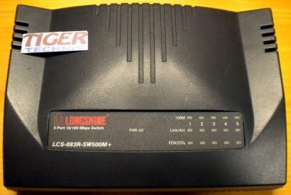 LONGSHINE LCS-883R-SW500M+ 5-port 10 100 Mbit Switch Dual-Speed RJ-45* nw365