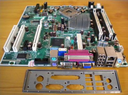 HP 404794-001 404166-001 Rev0A Mainboard +Blende Sockel 775 DDR2 Intel 963Q*m653
