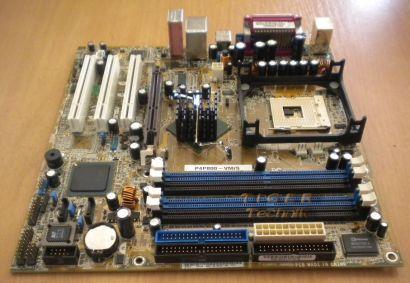 Asus P4P800-VM/S Rev 1.06 Mainboard mit Blende * Sockel 478 SATA USB LAN * m49
