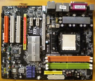 MSI K9N Platinum MS-7250 Ver1.0 Mainboard +Blende Sockel AM2 PCIe Dual LAN* m658