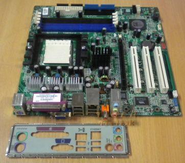MSI MS-7184 Ver 1.0 Mainboard +Blende HP PN 5188 3246 Sockel 939 AMD LAN* m53