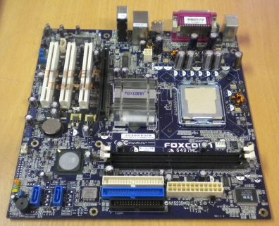 Foxconn 6497MC Mainboard mit Blende * Intel Sockel 775 FSB800 DDR400 LAN * m55