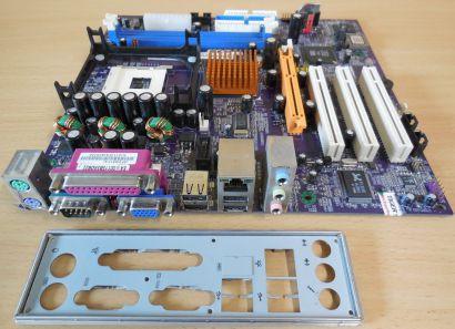 Elitegroup SF2/661FX Rev: 1.1 + Blende Sockel 478 FSB800 * m204
