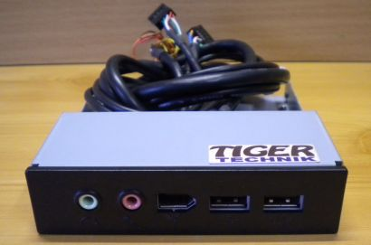 TAROX 3.5 Zoll USB, FireWire, Audio In-Out Front Panel schwarz* pz200