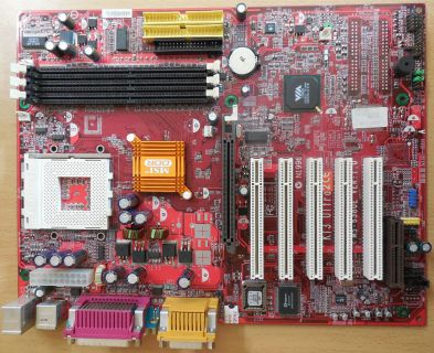 MSI KT3 Ultra 2 MS-6380E Ver1.0 Mainboard +Blende Sockel A 462 AGP PCI SDRAM*m61