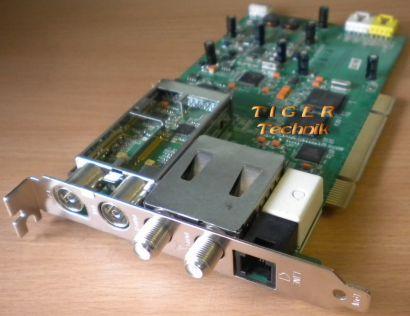 Medion Quad TV TUNER CTX944_V.2 TV Karte PCI 20029390 DVB-T DVB-S Fax Modem*tk23
