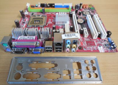 MSI P4M890M MS-7255 Ver1.2 Mainboard +Blende Sockel 775 PCIe x16 SATA DDR2* m673