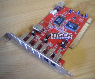 PCI COMBO CARD Controller 5x USB 2.0 3x IEEE FireWire 1394 SIMT107B VT6212L*sk02