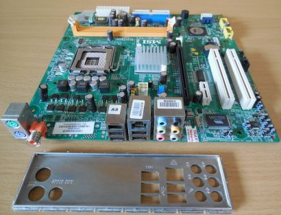 MSI MS-7301 Ver 1.0 Packard Bell Cuba Mainboard + Blende Sockel 775* m682