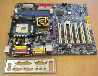 Gigabyte GA-8GE667 Pro Rev. 1.0 Mainboard + Blende P4 Titan 667 Sockel 478 *m68