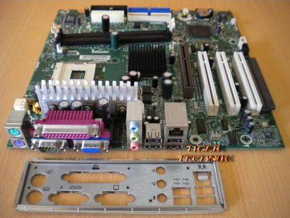 HP Compaq D510 Mainboard 283983-001 261981-001 + Blende Sockel 478 * m70