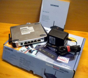 Siemens Gigaset SE105 dsl cable WLAN Router 4 Port Switch 11 Mbit* nw466