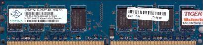 Nanya NT2GT64U8HD0BY-AD PC2-6400 2GB DDR2 800MHz Arbeitsspeicher RAM* r341