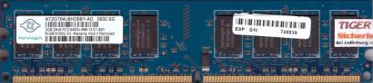 Nanya NT2GT64U8HD0BY-AD PC2-6400U 2GB DDR2 800 MHz 0841 TW RAM* r341