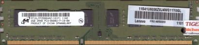Micron MT16JTF25664AZ-1G1F1 PC3-8500U 2GB DDR3 1066MHz Arbeitsspeicher RAM* r349