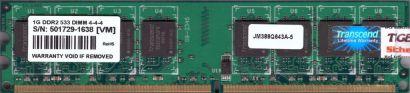 Transcend JM388Q643A-5 PC2-4200 1GB DDR2 533MHz CL4 Arbeitsspeicher RAM* r371