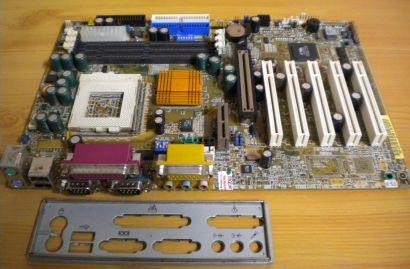 Gigabyte GA-6VX7-4X Rev 1.2 Mainboard +Blende Sockel 370 AGP PCI Audio USB* m694