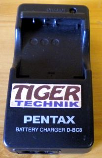 PENTAX D-BC8 4.2V DC 630mA Battery Charger* nt624