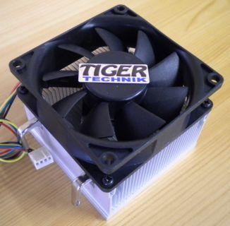 AMD Sockel AM2 AM2+ AM3 80mm 4-pol Prozessorkühler CPU Lüfter Aluminium* ck83