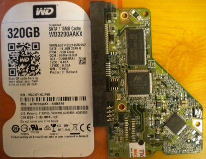 WD Caviar WD3200AAKX-00U6AA0 SATA 320GB PCB Controller-Elektronik Platine* fe11