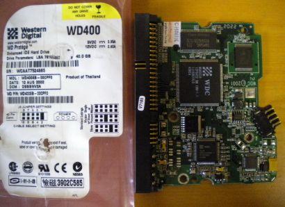 WD Caviar WD400EB-00CPF0 IDE 40GB PCB Controller-Elektronik Platine* fe12